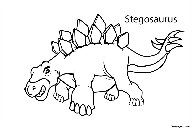 Stegosaurus Dinosaurs Coloring Page