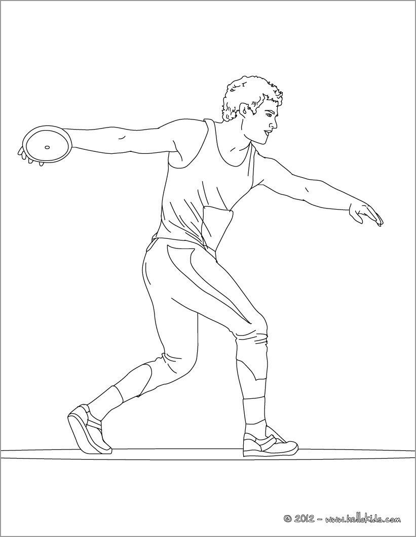 Throw athletics Coloring Page