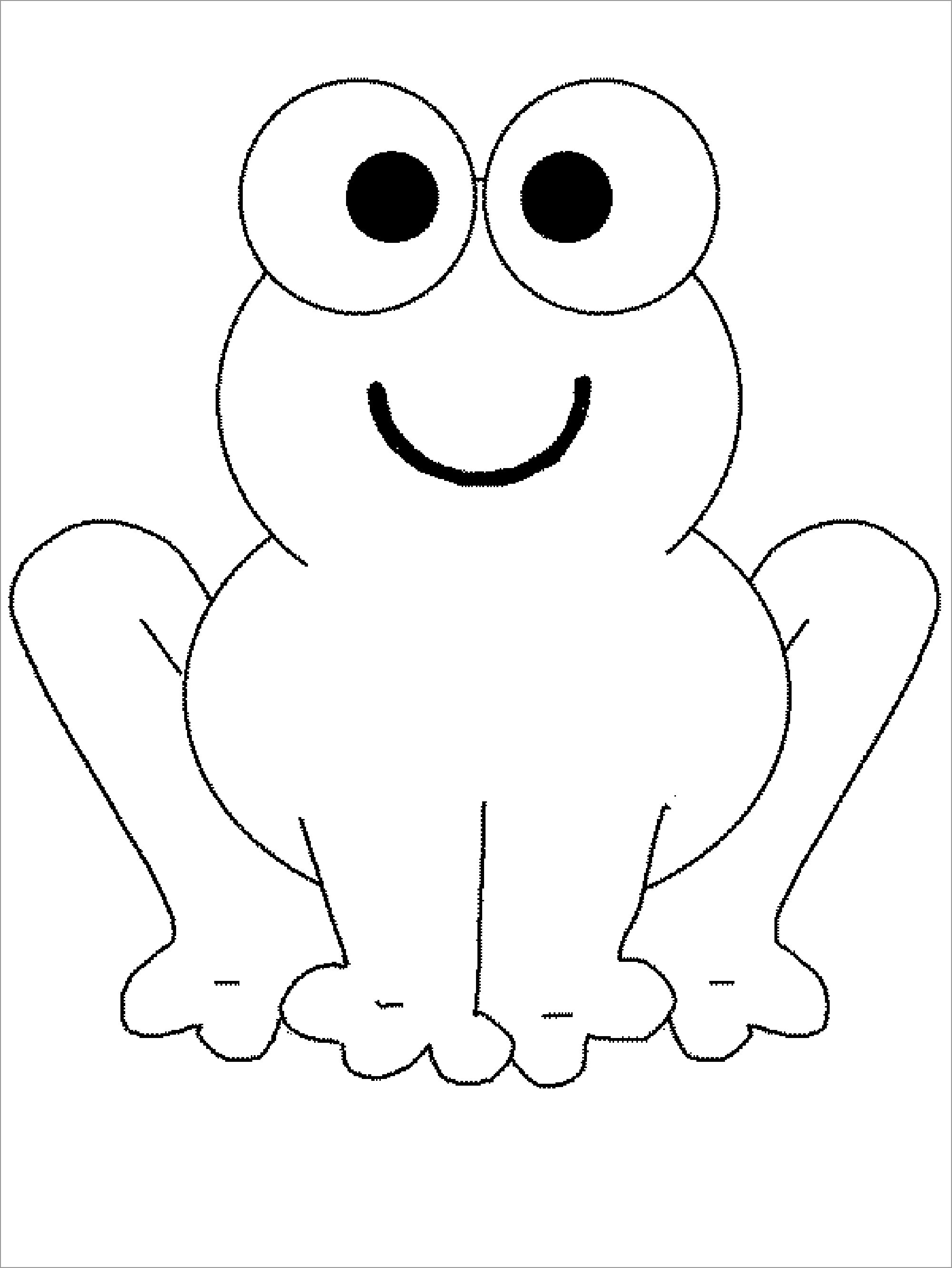 Toad Coloring Page for Preschool