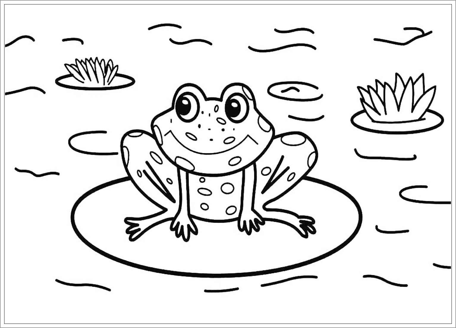 Toads Coloring Page for Kids