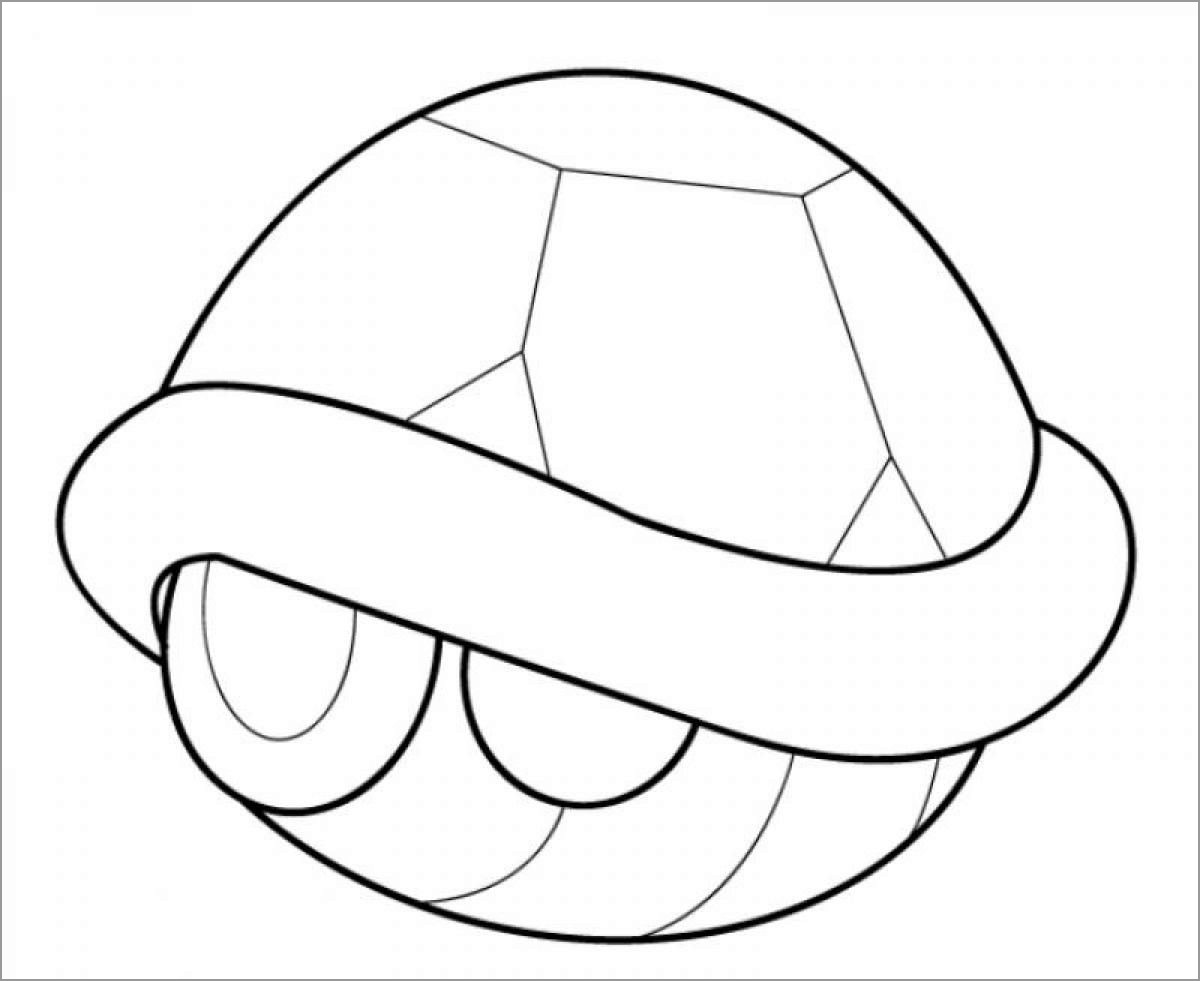 Turtle Shell Coloring Page for Kids