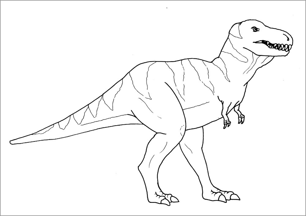 Tyrannosaurus Dinosaurs Coloring Page