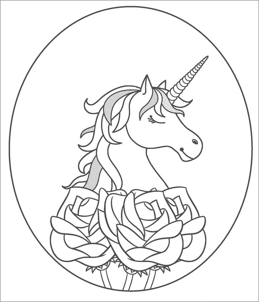 Unicorn Coloring Page to Print