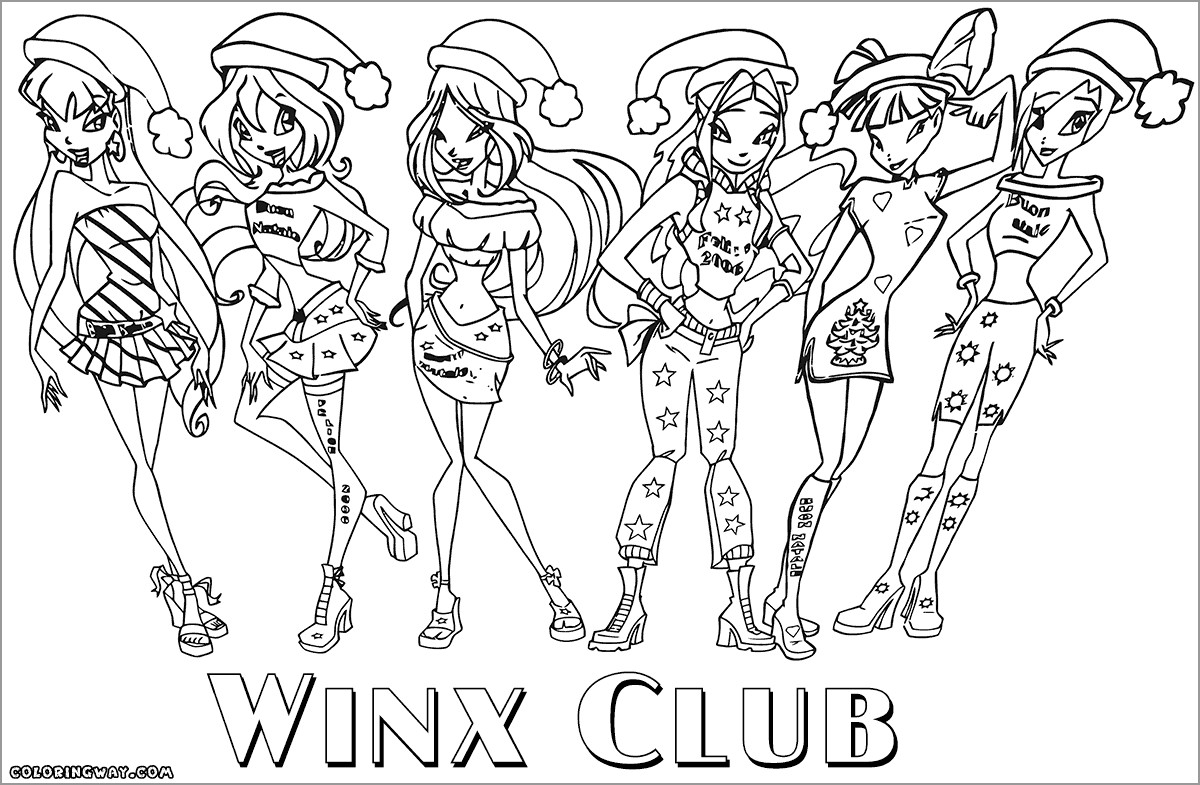 Winx Club Fairy Coloring Page for Kids