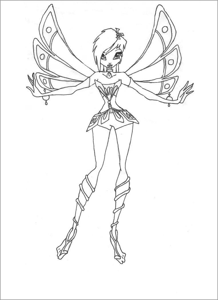 Winx Enchantix Tecna Coloring Page