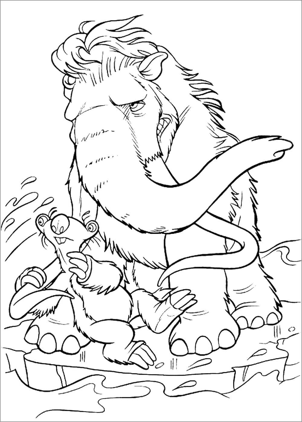 Woolly Mammoth Coloring Page for Adults