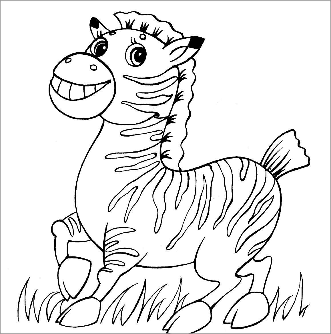 Zebra Coloring Page Image