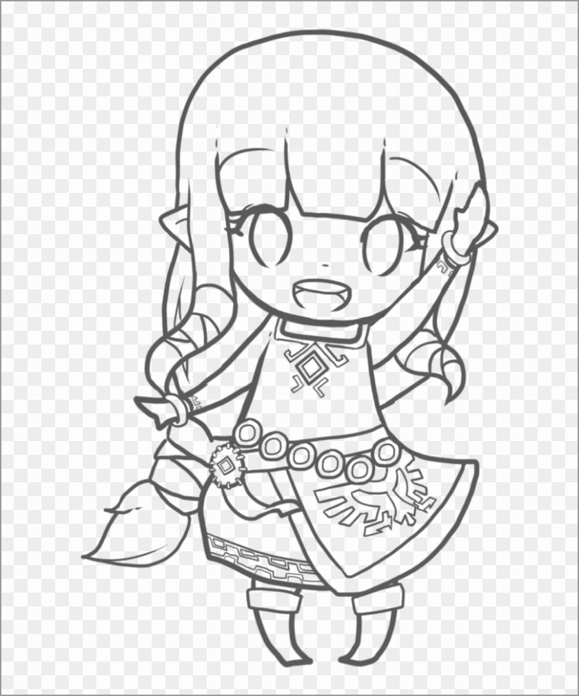 Zelda Chibi Coloring Page