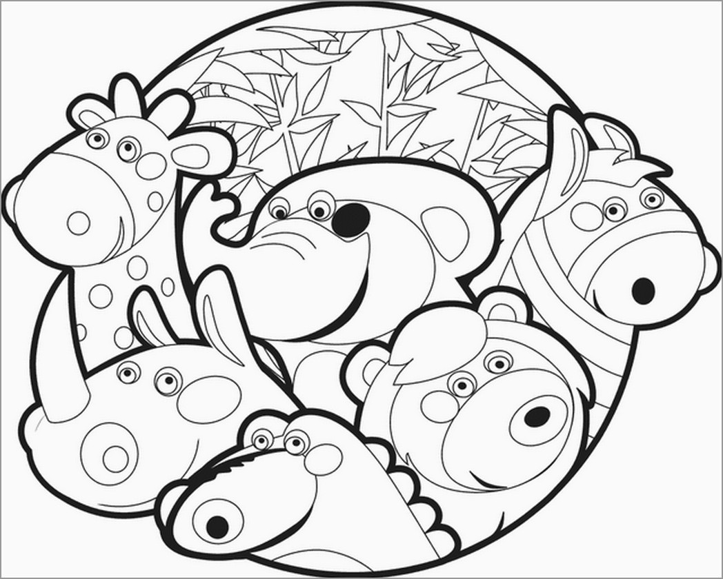 Zoo Coloring Page for toddlers