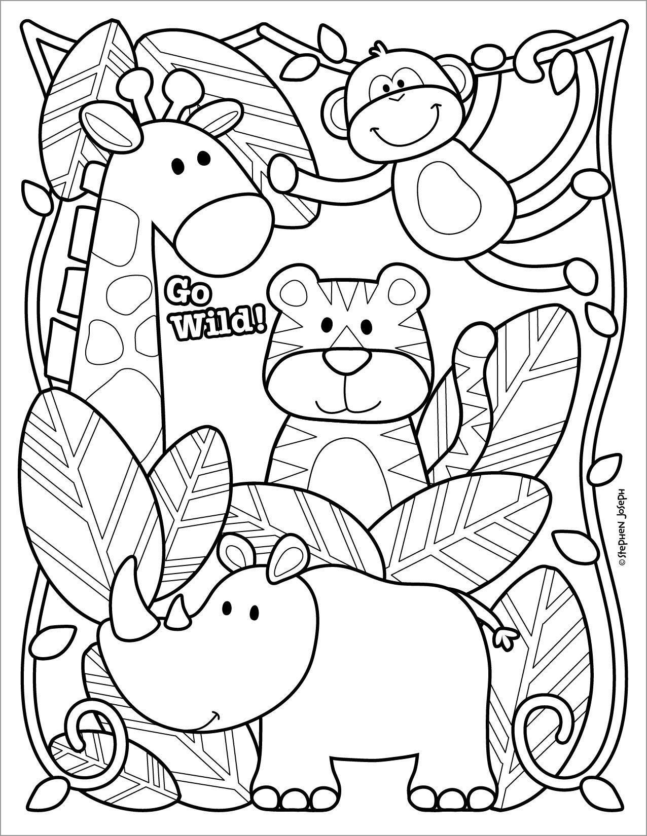 Zoo Coloring Page Printable