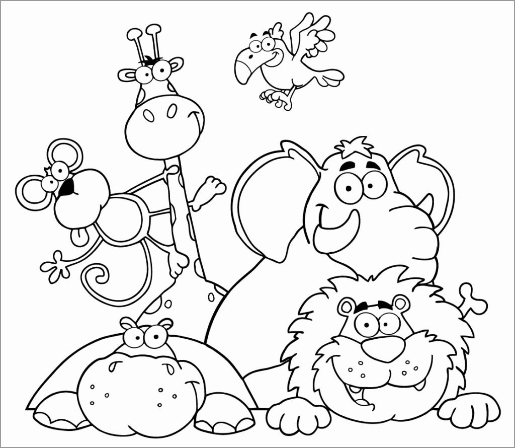 Zoo Coloring Pages for Preschoolers Free
