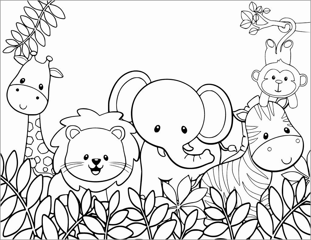 Zoo Coloring Pages for toddlers